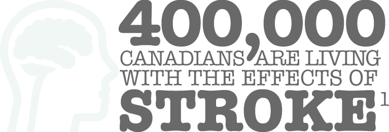 400,000 Canadians are living with the effects of stroke